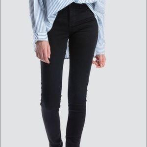 Levi's Mid Rise Skinny 12 short Black Jeans